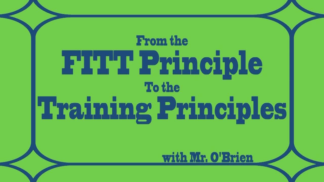 High - Training Principles #2